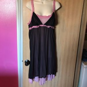 Black n pink slip dress